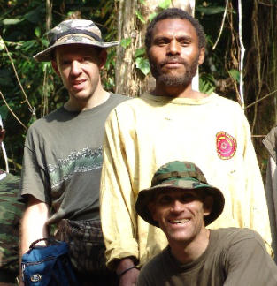Expedition of Woetzel and Guessman in 2004 on Umboi Island